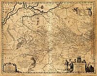 Старинная карта Украины Боплана 1648года