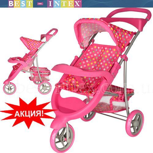 Коляска 9614 MELOGO для куклы розовая