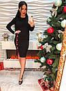 Модное женское платье красивый разрез с пуговицами машинная вязка бордо, черное, зеленое