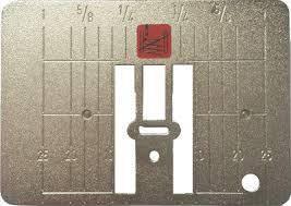 Игольная пластина для машин с 9 мм, с узкой прорезью 5,5 мм