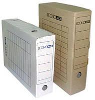 Короб архивный картон 7см Economix 32701