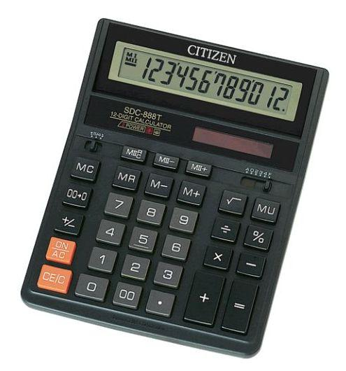 Калькулятор CITIZEN SDC-888T new черный корпус