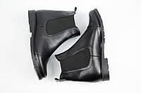 Женские ботинки кожаные черные, фото 1