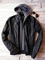 Стильная мужская куртка (кожанка) Burton (S 46)