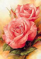 Алмазная вышивка розы 20х25 см, полная выкладка, квадратные стразы