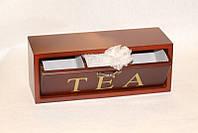 Коробка для чайных пакетиков (чайница) Lefard 30х10х10 см, 453-011