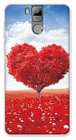 Чехол на телефон Oukitel K6000 Pro с рисунком сердца