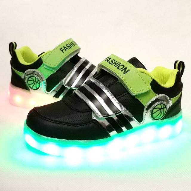 Детские светящиеся кроссовки с led подсветкой