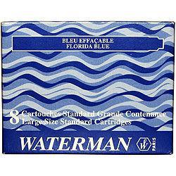 Баллончики-капсулы чернильные Waterman 8шт 52001/52002/52004