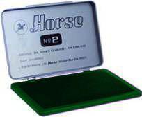 Подушка штемпельная №2 HORSE_Зелений