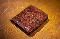 Кошелек вестерн S, Листья дуба, коричневый, фото 1