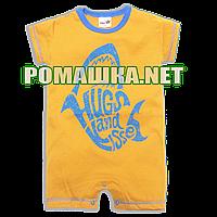 Детский песочник-футболка р. 74 ткань КУЛИР-ПИНЬЕ 100% тонкий хлопок ТМ Merry Bear 3984 Оранжевый