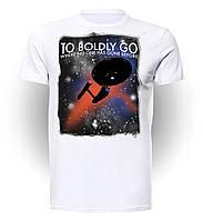 Футболка GeekLand Стар Трэк Star Trek Boldly go ST.01.003