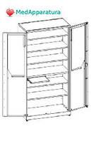 Шкаф для инструментария и медикаментов ШМ-К-05
