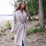 Удлиненное пальто кашемир на запах, фото 2
