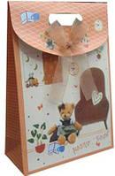 Пакет подарочный бумажный  LULU в165*ш125*т55мм 90803/90903