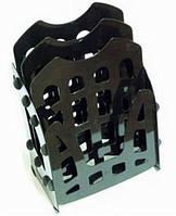 Лоток для бумаги горизонтальный/ вертикальный АРНИКА пластик 3 яруса 82348/82349/82350_Чорний