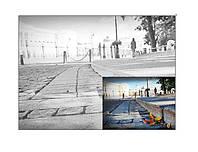 Картина раскраска с контурами на холсте РОСА 30*40см акрил Пейзаж №13