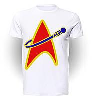 Футболка GeekLand Стар Трэк Star Trek red blue and yellow badge ST.01.007