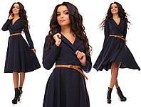 Женские платья . Платье с клешной юбкой, ткань костюмка. Размер 42, 44, 46