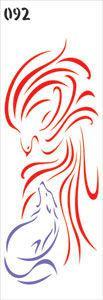 Трафарет 11*33см 092 Серия Птица и лис