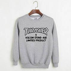 Свитшот Thrasher серый топ реплика