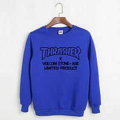 Свитшот Thrasher синий реплика