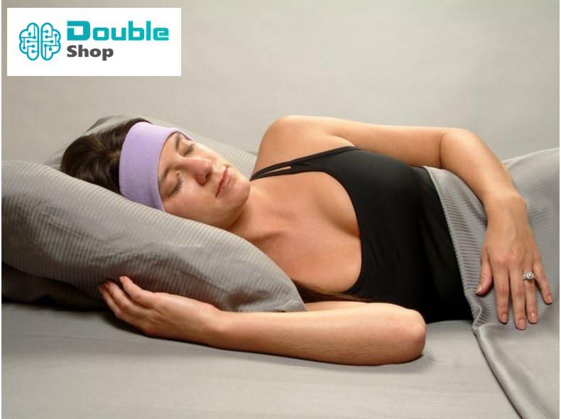 Повязка наушники флисовая для сна, проводные мягкие наушники для сна