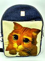 Джинсовый рюкзак Кот в сапогах Шрек