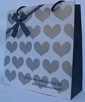 Пакет подарочный бумажный LULU в155*ш140*т70мм C-7