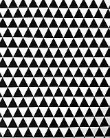 Подарочная бумага (упаковочная) белого цвета с чёрными треугольниками