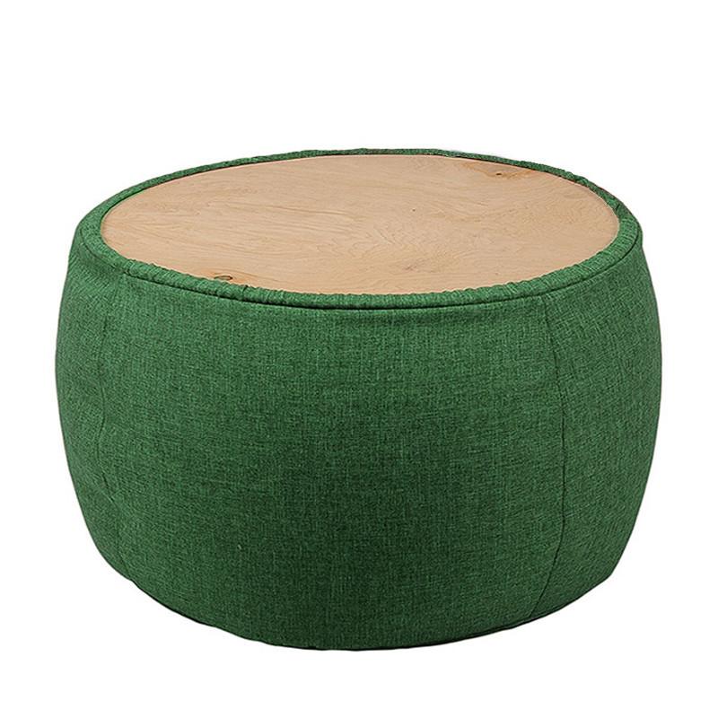 Кресло мешок, журнальный столик, бескаркасный столик. Микро-рогожка 65см с дополнительным чехлом