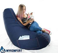 """Кресло-мешок, груша """"Джинс"""" большого размера, фото 1"""