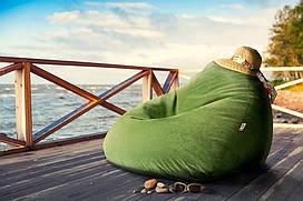 Овальное кресло - мешок груша 85*105 см Микро-рогожка