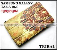 Оригинальный чехол книжка для Samsung galaxy Tab A 10.1 SM-T585 SM-T580 эко PU TFC Tribal, фото 1