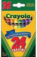 Мелки для рисования цветные, восковые CRAYOLA 24цв. 0024