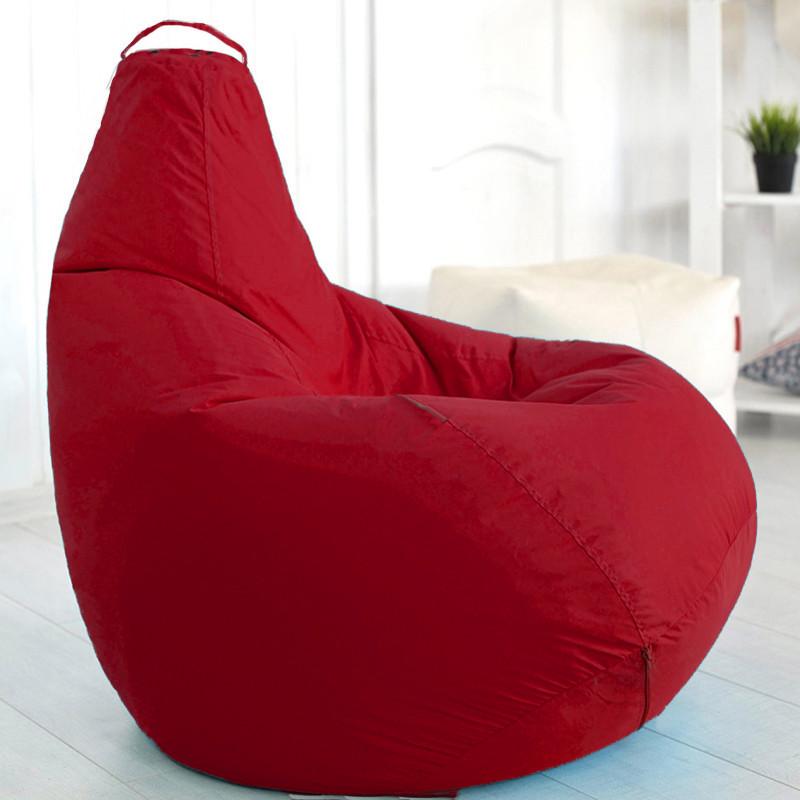 Кресло-мешок груша Красное Оксфорд 90*130см С дополнительным чехлом