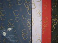 Бумага упаковочная LINE ART №20 68*78см двухсторонняя Сплетенные сердца