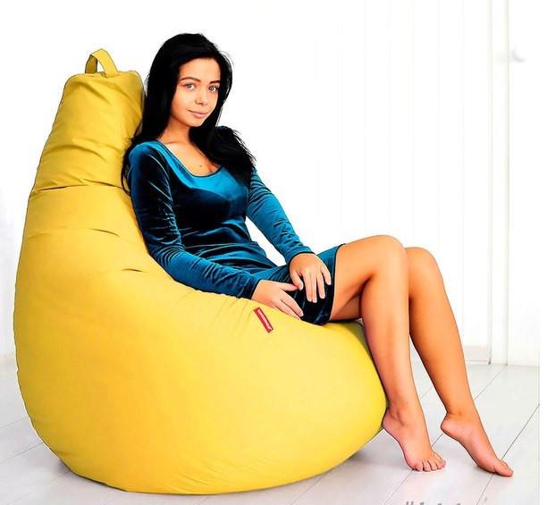 Огромное Кресло- мешок груша Оксфорд 100*140 см  С дополнительным чехлом