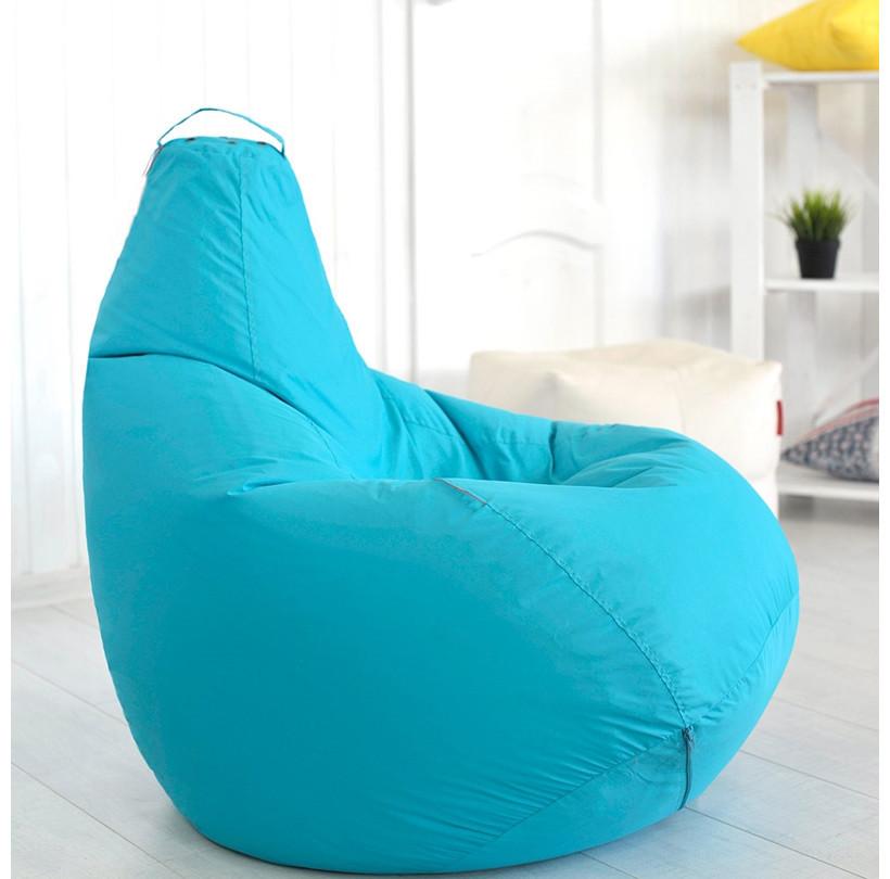 Кресло-мешок груша Оксфорд 85х105 см Голубое  С дополнительным чехлом