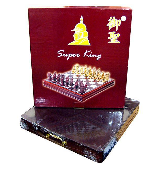 Шахматы Super King доска 45*45см выдвижная деревянная коробка 944-3/374-1
