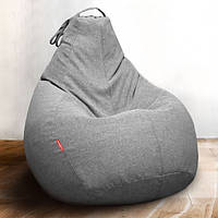 Чехол для кресла-груши с ткани микро-рогожка Саванна, средний размер