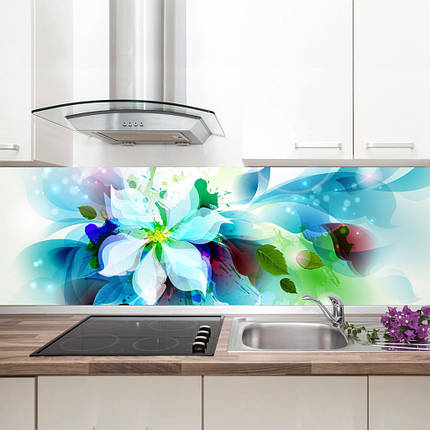 """Фартук на кухню / Скинали """"Голубой цветок"""", фото 2"""