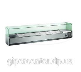 Настольная холодильная витрина Hendi 232903 (0...+10°С, 1200x335x425 мм, на пять гастроемкостей)