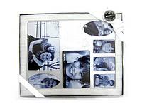 Фоторамка Эксклюзив 30*25см металл Family 1055-4_Серебро