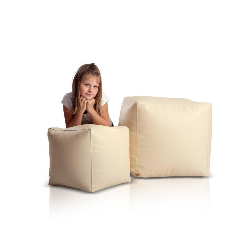 """Кресло мешок, пуфик, кубик.Эко-кожа """"Зевс"""" 50*50*50 см. С дополнительным чехлом"""