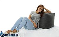 Кресло мешок, пуфик, кубик. Микро-рогожка Саванна 50*50*50 см. С дополнительным чехлом