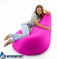 Кресло-мешок груша Оксфорд розовый  С дополнительным чехлом