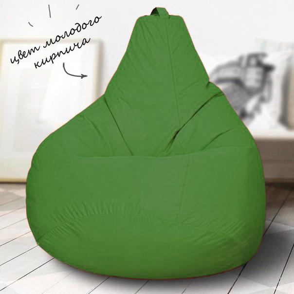 Кресло-мешок груша Зеленый 90*130 Оксфорд С дополнительным чехлом