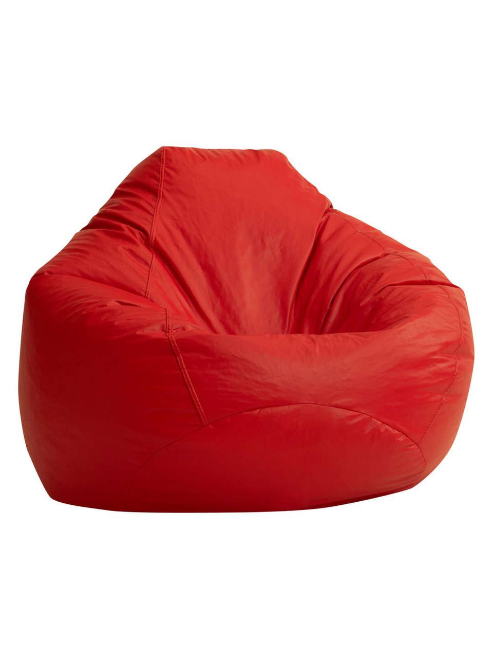Кресло-Овал/Оксфорд/Красный/90х130 см/С дополнительным чехлом